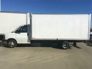 2017 Chevrolet Express cube truck 1 ton 3500 16 feet box
