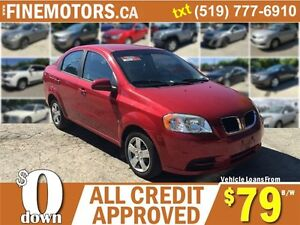 2009 PONTIAC G3 * LOW KM * SAVE AT THE PUMP * CAR LOANS FOR ALL