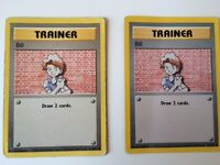 2 RARE Trainer Bill (1999 Wizards) 1st Generation Pokemon Card (91/102)