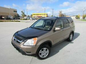 2002 HONDA CR-V EX-L *4WD,LEATHER,SUNROOF,LOADED!!!*
