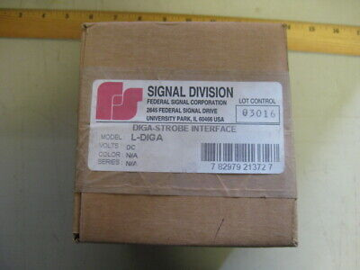 Lot Of 2 Federal Signal Diga Strobe Interface L-diga Unused Surplus