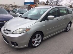 2007 Mazda MAZDA5  GT/6 PASSENGER/SUNROOF/ALLOYS/REAR SPOILER!