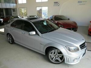 2009 Mercedes-Benz C63 W204 AMG Iridium Silver 7 Speed Sports Automatic Sedan Albion Brisbane North East Preview