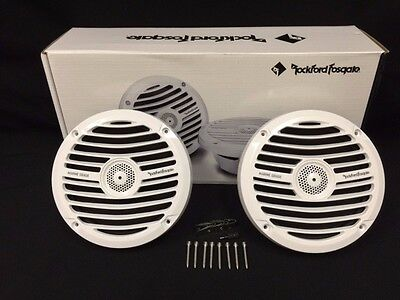 Rockford Fosgate Rm0652 6 5  White 100W Max 2 Way Marine Boat Coaxial Speakers