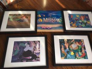 Disney Little Mermaid 4 Diseny Framed Pictures