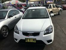 2009 Kia Rio JB MY10 S White 4 Speed Automatic Hatchback Cardiff Lake Macquarie Area Preview