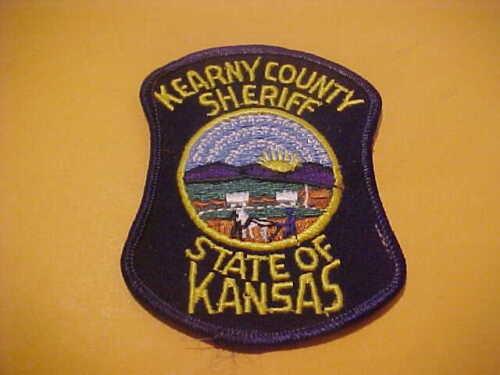 KEARNY COUNTY KANSAS POLICE PATCH SHOULDER SIZE UNUSED  TYPE 1