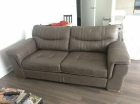 Luxury 3 seater real leather couch - 8 months old - good as new. Retail price £1600 - sell for £900