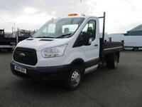 Ford Transit T350 MWB TIPPER TDCI 100PS S/CAB DIESEL MANUAL WHITE (2014)
