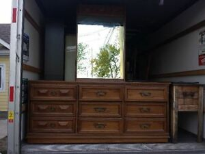 Antique 6 Drawer Dresser with Mirror