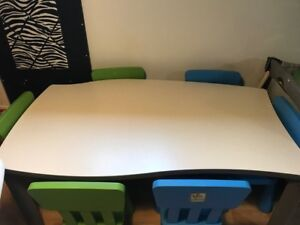 Table Tres Robuste (style commercial d'ecole)
