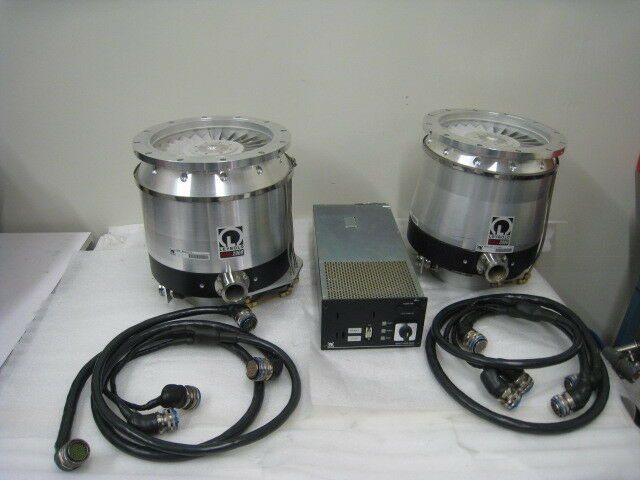 2 Leybold Mag 2000 Turbo Pumps, One Mag Turbo Controller + 2 Cables, Novellus