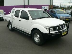 2011 Nissan Navara D40 MY11 RX (4x4) White 6 Speed Manual Dual Cab Pick-up Dubbo Dubbo Area Preview