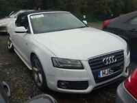 AUDI A5 CONVERTIBLE S LINE (BREAKING) 2012 WHITE
