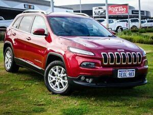 2014 Jeep Cherokee KL Longitude Red 9 Speed Sports Automatic Wagon
