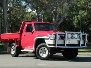 2009 Nissan Patrol GU 6 MY08 DX Red 5 Speed Manual Cab Chassis Slacks Creek Logan Area Preview