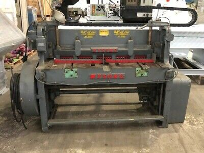 Wysong 1252 12 Gauge X 52 Mechanical Shear With Front Supports Back Gauge