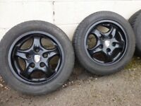 Set of genuine 5x112 Porsche alloy wheels