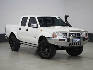 2010 Nissan Navara D22 MY08 ST-R (4x4) White 5 Speed Manual Dual Cab Pick-up Bentley Canning Area Preview
