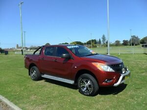2012 Mazda BT-50 UP0YF1 XT Red 6 Speed Manual Utility Hamilton East Newcastle Area Preview