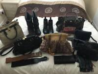 Job lot of womens clothing and accessories