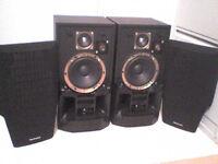 70W Technics 3 Way horned Stereo Speakers - Heathrow
