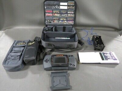 HUGE Atari Lynx II 2 Console + Games + Carrying Case Collection RARE HTF