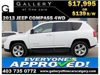 2013 Jeep Compass Sport AWD $139 bi-weekly APPLY NOW DRIVE NOW