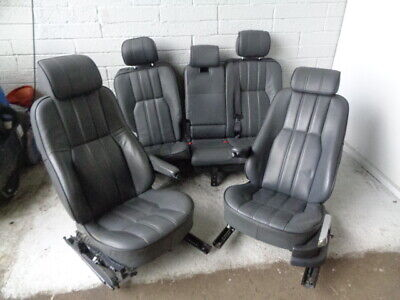Range Rover L322 Seats set of Grey Leather Black Piping 2002 to 2005 G30031