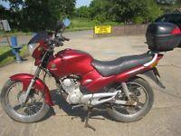 2005 MODEL YAMAHA SR 125 MOTORCYCLE IN ORIGINAL RED-1 OWNER-LOW MILES-BARNFIND