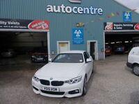 BMW 4 SERIES 2.0 425D M SPORT 2d AUTO 215 BHP STUNNING CONVERTA (white) 2015