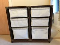Contemporary bedroom 6 drawer set