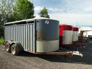 Used Steel 15' cattle trailer for sale