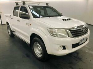 2012 Toyota Hilux KUN26R MY12 SR (4x4) White 4 Speed Automatic Dual Cab Pick-up Sunshine North Brimbank Area Preview