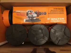 """Walter 5 """" angle grinder with 225 zip cut disks """"PRO-PACK"""""""