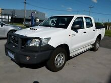 2011 Toyota Hilux KUN26R MY12 SR (4x4) White 5 Speed Manual Dual Cab Pick-up Welshpool Canning Area Preview