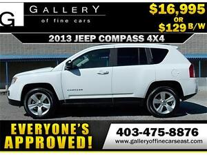2013 Jeep Compass North 4x4 $129 bi-weekly APPLY NOW DRIVE NOW