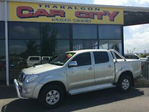 2009 Toyota Hilux KUN26R 09 Upgrade SR5 (4x4) Silver 5 Speed Manual Dual Cab Pick-up Traralgon Latrobe Valley Preview