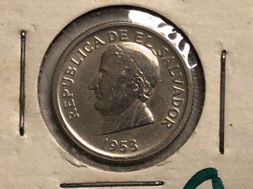 1953 - El Salvador - 25 Centavos - UNC