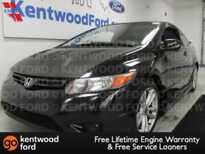 2007 Honda Civic Cpe 6-SPD manual SI with black on black feature