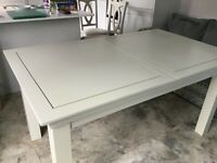 Oak Furnitureland extendable dining table in Dove Grey