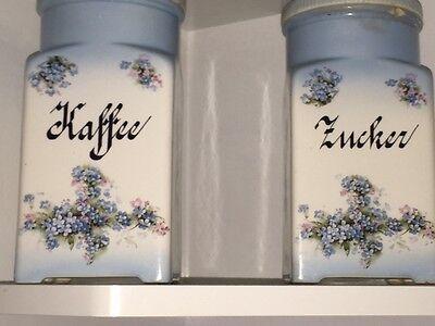 Antike Kaffee- und Zuckerdose mit Stempel
