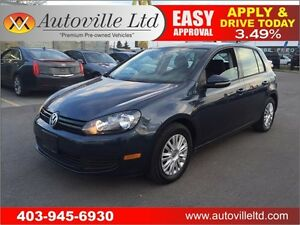2012 Volkswagen Golf Trendline, FWD, AUX EVERYONE APPROVED!!!!