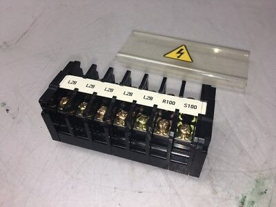 7 - Idec BNH15LW Terminal Blocks, & 2 BNE15W End Caps, 600V, 2mm2, Used