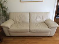 Three seater Cream Ikea Alvros Sofa