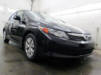 2012 Honda Civic LX NOIR AUTOMATIQUE A/C CRUISE 88,000KM