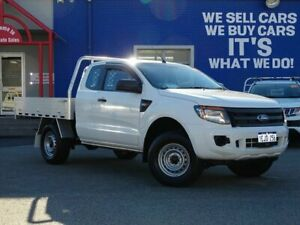 2013 Ford Ranger PX XL Super Cab 4x2 Hi-Rider White 6 Speed Sports Automatic Cab Chassis Welshpool Canning Area Preview