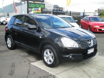 2008 Nissan Dualis J10 ST X-tronic AWD Black 6 Speed Constant Variable Hatchback