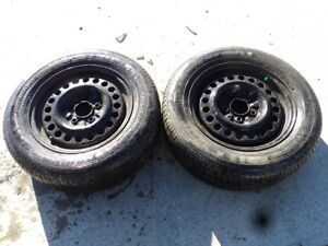 2 Kelly all season tires with steel rims 215/60/15