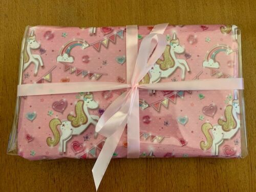 10 Layer Unicorn Pass The Parcel - Colouring/sticker Book Prize (+ 9 Toys)